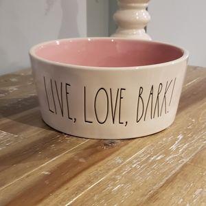 "XL Rae Dunn dog bowl "" Live Love Bark"""